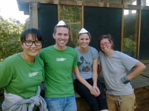 Starbucks Coffee Company Volunteer Clean the Chicken Coop!