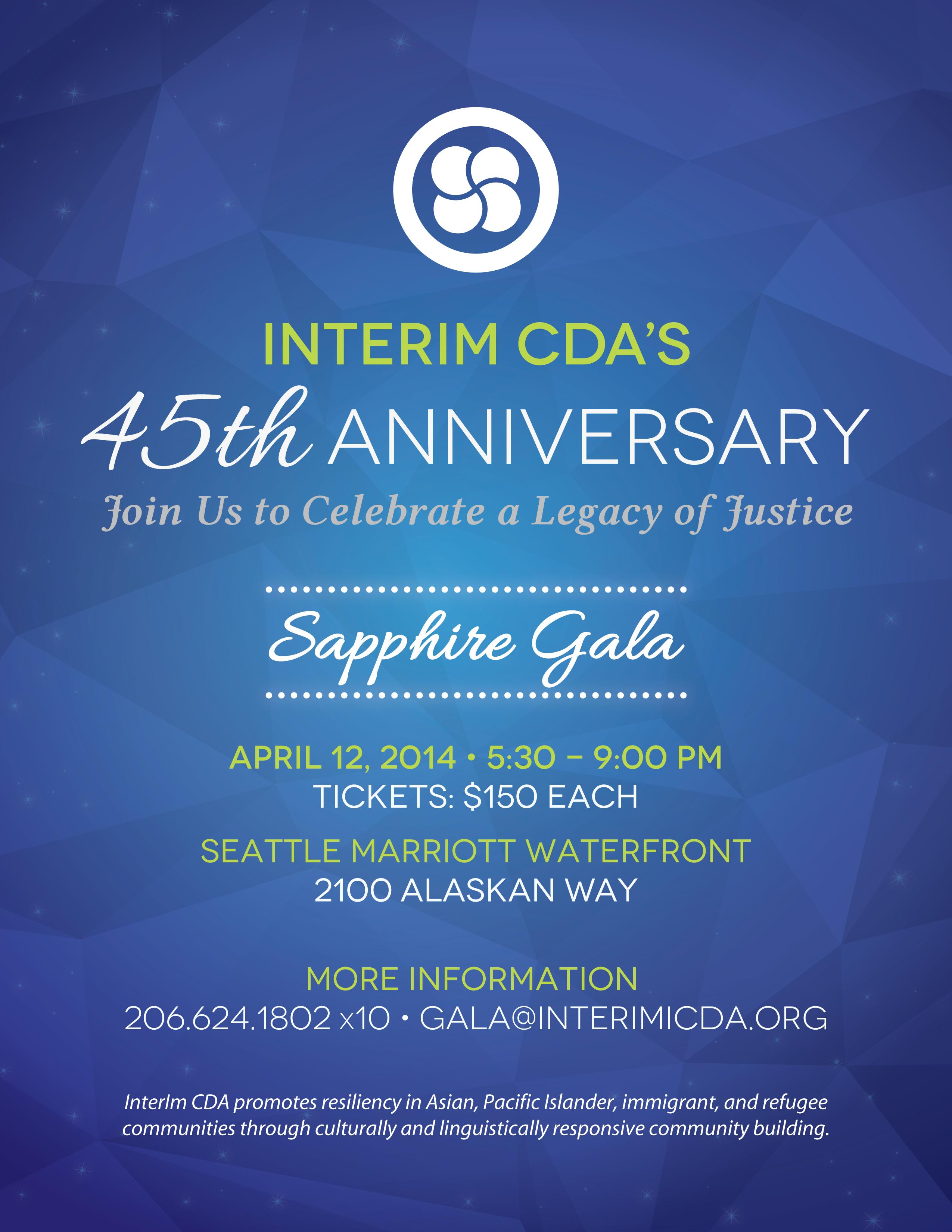 InterIm CDA 45th Anniversary- Sapphire Gala